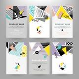Cartes avec des formes géométriques illustration stock