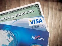 Cartes bancaires  Photographie stock