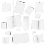Cartes blanches vierges de vecteur illustration stock