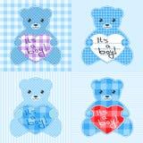 Cartes bleues d'ours de nounours Image stock