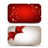 Cartes cadeaux Foto de archivo libre de regalías
