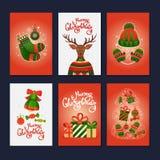 Cartes cadeaux de la Feliz Navidad Imagen de archivo