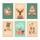 Cartes cadeaux de la Feliz Navidad fotografía de archivo