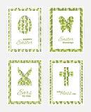 Cartes cadeaux de Pâques Image libre de droits