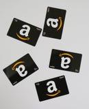 Cartes cadeaux del Amazonas en la exhibición Fotos de archivo
