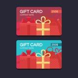 Cartes cadeaux del vector Imágenes de archivo libres de regalías