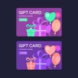 Cartes cadeaux del vector Foto de archivo libre de regalías