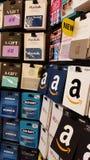 Cartes cadeaux: El Amazonas, Old Navy, ordenar, Apple y más Fotografía de archivo libre de regalías