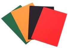Cartes colorées Photo stock