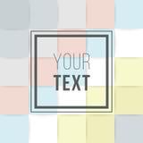Cartes colorées Affiche abstraite moderne de conception, couverture, design de carte Géométrique à la mode Rétro texture de style Images libres de droits