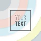 Cartes colorées Affiche abstraite moderne de conception, couverture, design de carte Géométrique à la mode Rétro texture de style Images stock