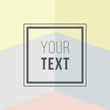 Cartes colorées Affiche abstraite moderne de conception, couverture, design de carte Géométrique à la mode Rétro texture de style Photographie stock libre de droits