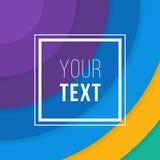 Cartes colorées Affiche abstraite moderne de conception, couverture, design de carte Géométrique à la mode Rétro texture de style Photo stock