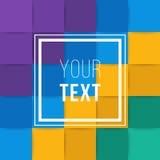 Cartes colorées Affiche abstraite moderne de conception, couverture, design de carte Géométrique à la mode Rétro texture de style Image libre de droits