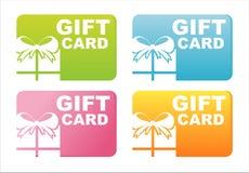Cartes colorées de cadeau Image stock