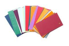 Cartes colorées de carton Photos stock