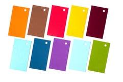 Cartes colorées de carton Photo stock
