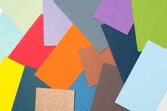 Cartes colorées de carton Photos libres de droits