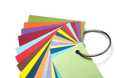 Cartes colorées de carton Photographie stock libre de droits