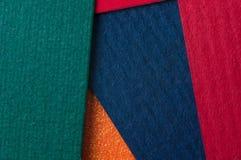 Cartes colorées de carton Image libre de droits