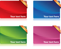 Cartes colorées d'amélioration Images stock