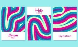 Cartes créatives avec le fond abstrait - vecteur illustration libre de droits