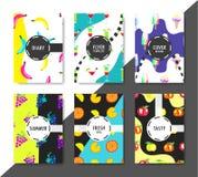 Cartes créatives d'été Images stock