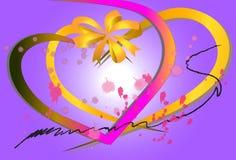 Cartes créatives de conception graphique de l'amour Images libres de droits