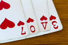Cartes d'amour Photos stock