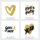 Cartes d'amour pour épouser et Saint-Valentin Photographie stock libre de droits