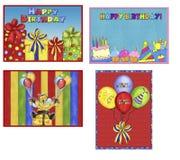 Cartes d'anniversaire Illustration Stock