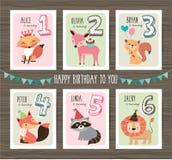 Cartes d'anniversaire illustration libre de droits