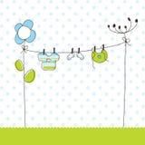 Cartes d'annonce d'arrivée de bébé Photo stock