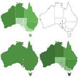 Cartes d'Australie illustration de vecteur