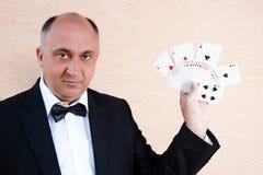 Cartes d'exposition de magicien Photographie stock libre de droits