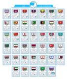 Cartes d'infos de l'Asie illustration de vecteur
