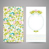 Cartes d'invitation avec les fleurs abstraites Images libres de droits