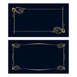 Cartes d'invitation d'Art nouveau de vecteur Image stock