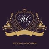 Cartes d'invitation de mariage avec les éléments floraux Carte de voeux dans le type grunge ou rétro illustration libre de droits