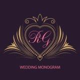 Cartes d'invitation de mariage avec les éléments floraux Un coeur Amour Carte de voeux dans le type grunge ou rétro illustration stock