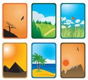 Cartões da natureza Fotos de Stock Royalty Free