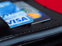 Cartes de banque internationale image libre de droits