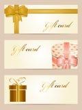Cartes de cadeau Photo stock