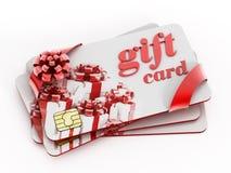 Cartes de cadeau Images stock