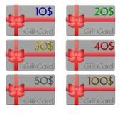 Cartes de cadeau Photos stock