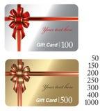 Cartes de cadeau Photographie stock