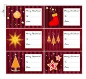 Cartes de cadeau de Noël Photographie stock libre de droits