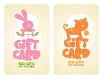 Cartes de cadeau pour la chéri. Photo libre de droits