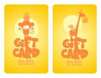 Cartes de cadeau pour la chéri. Photos stock