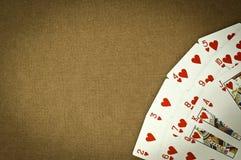 Cartes de coeur Image stock
